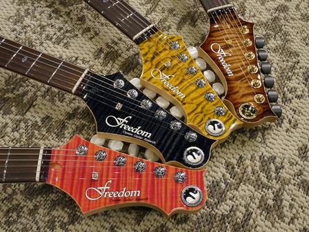 Freedom Custom Guitar Research 謹製 入魂のハイドラシリーズ勢揃い!